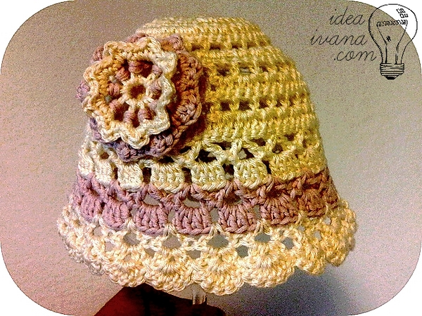 summer hat flower crochet pattern free