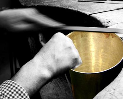 craftsman making van perckens solid gold champagne cooler ice bucket