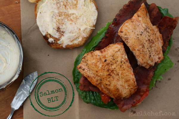 Salmon BLT {#WeekdaySupper} | www.girlichef.com