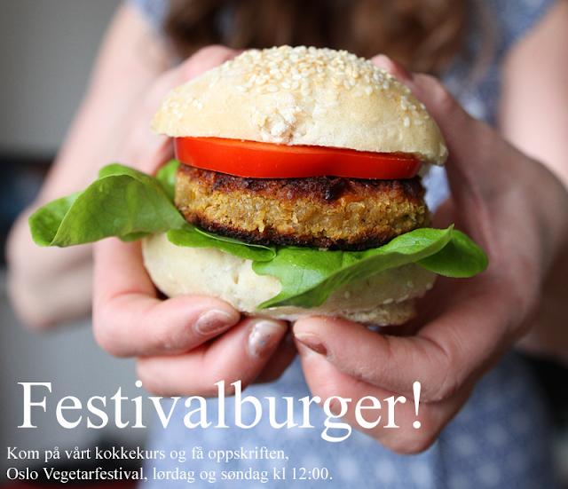 Festivalburger Kokkekurs Oslo Vegetarfestival Veganmisjonen Veganmannen
