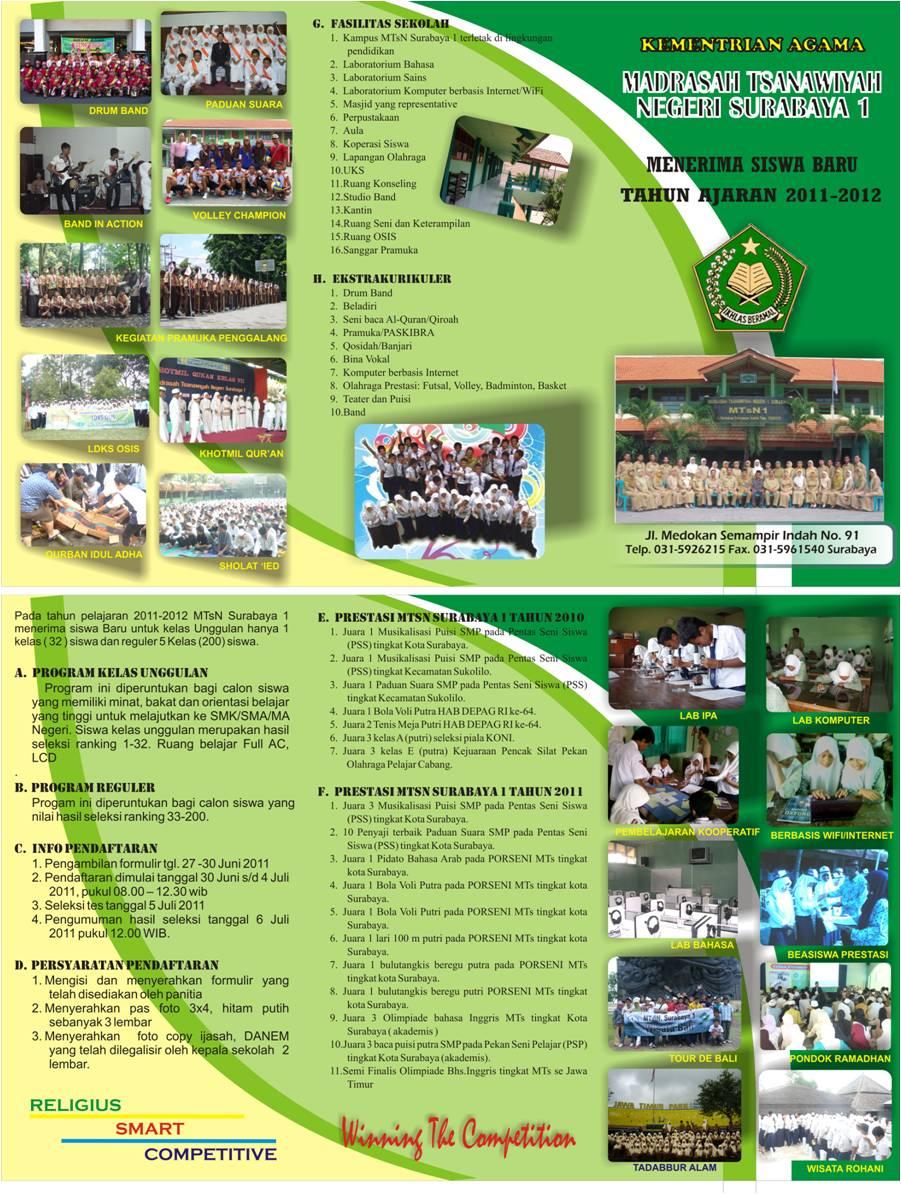 contoh desain brosur sekolah mts