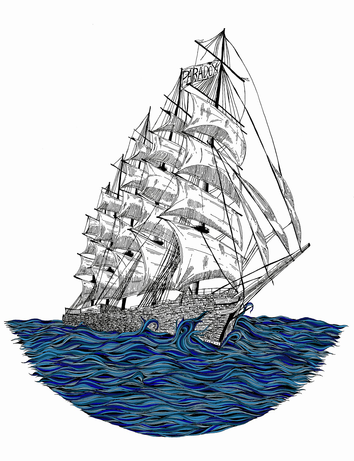 Tall Ship Drawing Sailing ship