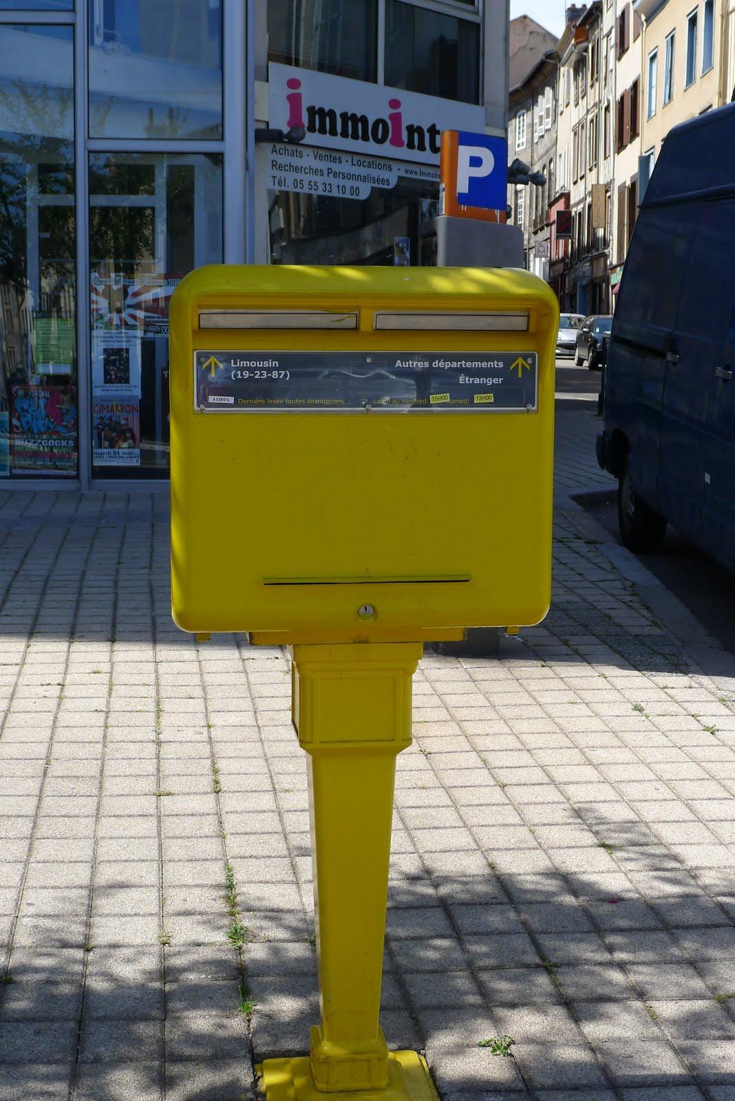 Pr sentation de quelques timbres et lettres bo te aux lettres en france suite - Boites aux lettres la poste ...