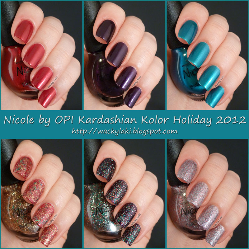 Wacky Laki: Nicole by OPI Kardashian Kolor Holiday Collection