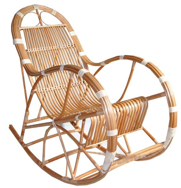 vannerie et osier rocking chair