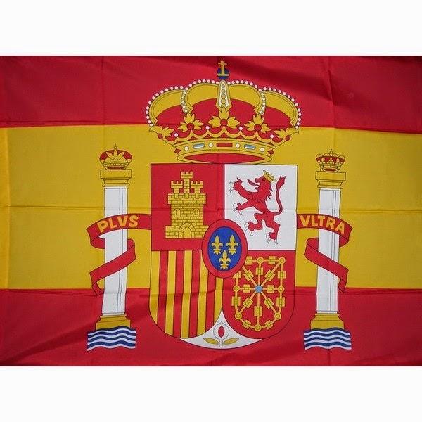 Bandera y escudo de España
