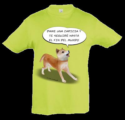 """Camiseta manga corta para niños y niñas""""Siempre a tu lado"""" color verde"""