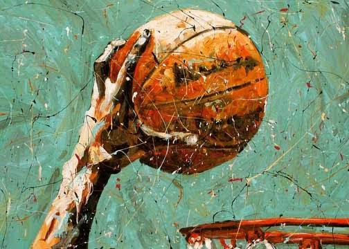 basketball art  u0026quot the dunk u0026quot