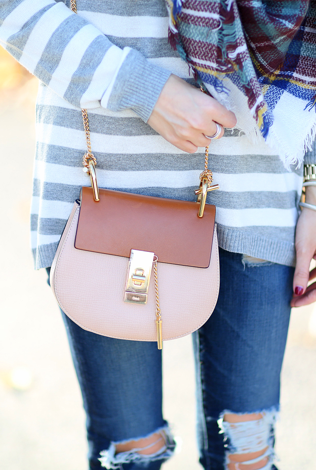 Chloe two-tone handbag