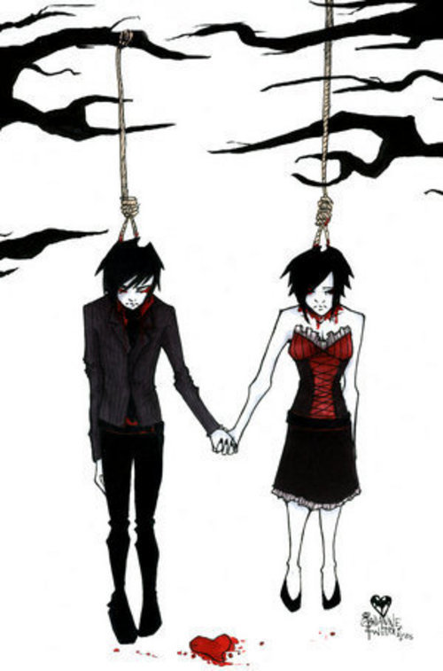 emo cartoons love. emo love cartoons images