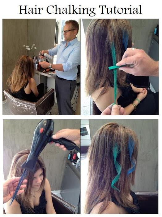 how to make hair chalking on dark hair