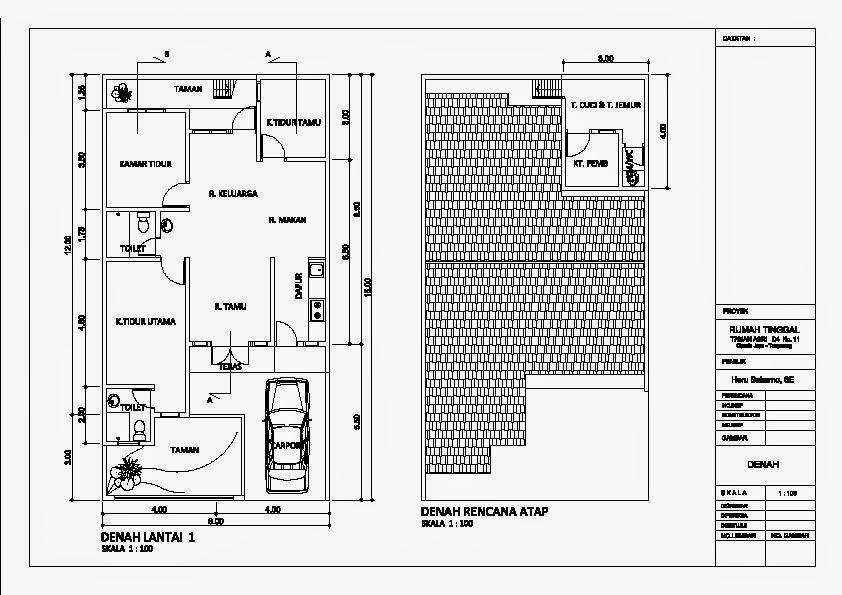 Konsep Sketsa Denah Rumah Mewah 1 Lantai
