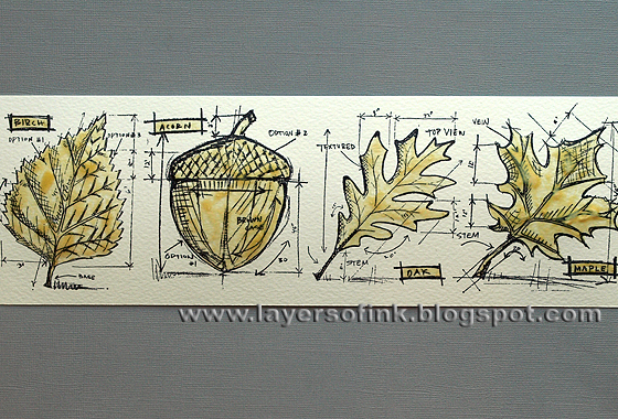 Black ink mystical ornament tattoo with leaves and