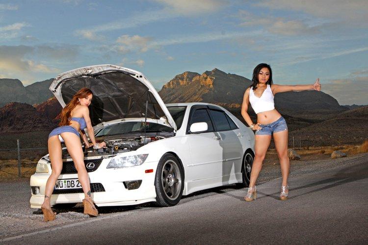 fotki panienek z samochodami, JDM, japonia, girls, lexus is