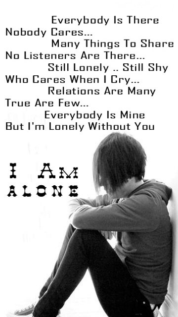 everybody is there nobody is care sms painful shayari