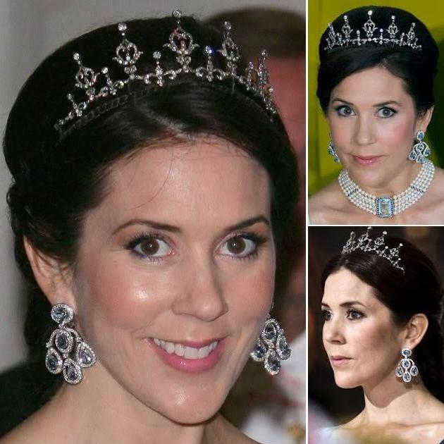 Princess Mary - Diamond Blue Drop Earrings
