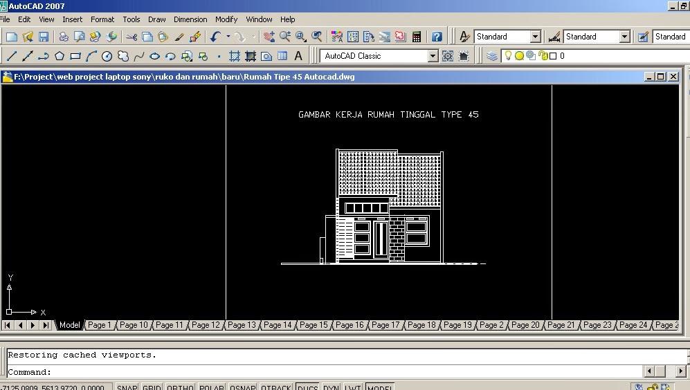 Desain Rumah Format Dwg Rumah Zee