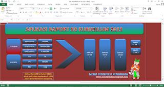 Tampilan awal aplikasi olah nilai raport SD Kurikulum 2013