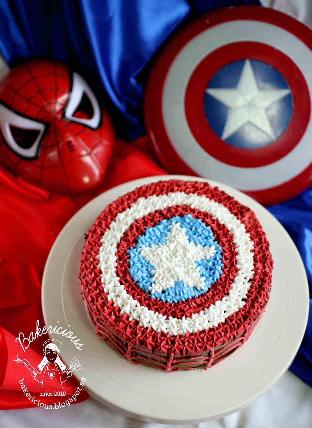 Bakericious Captain America And Spiderman Chocolate Fudge Cake