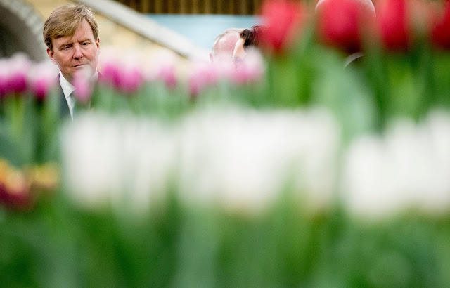 King Willem-Alexander of The Netherlands attends the opening of the 35th edition of 'Lentetuin Breezand' (Breezand Spring Garden) in Breezand