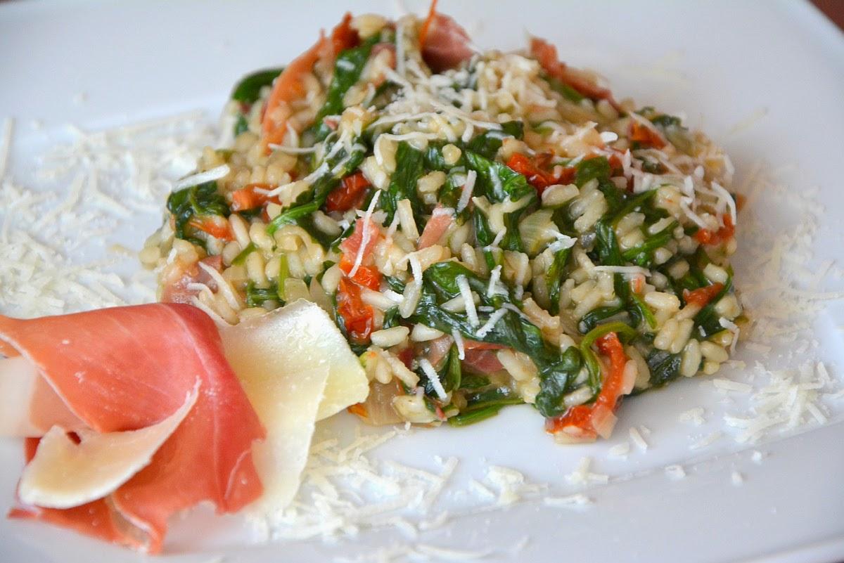 risotto z suszonymi pomidorami