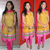 Monica Yellow Raw Silk Salwar