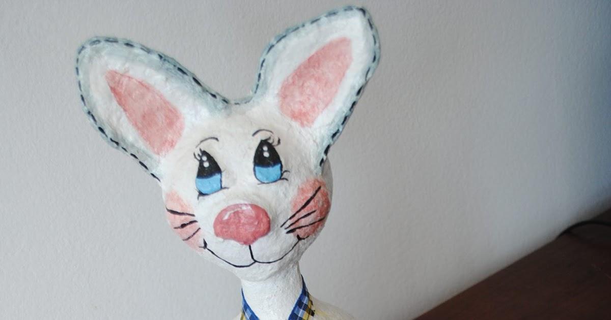 Coelhinho em papel mach ovos pintados calma que for Vendo papel pintado