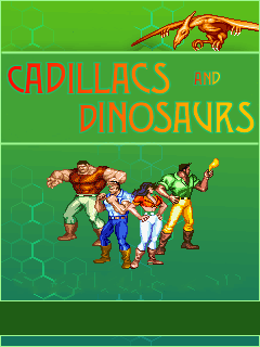 Screenshots of the Cadillacs and Dinosaurs for java mobile, phone.