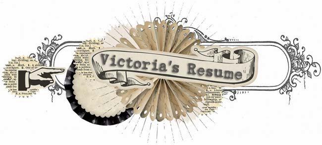Victoria's Scrap Resume