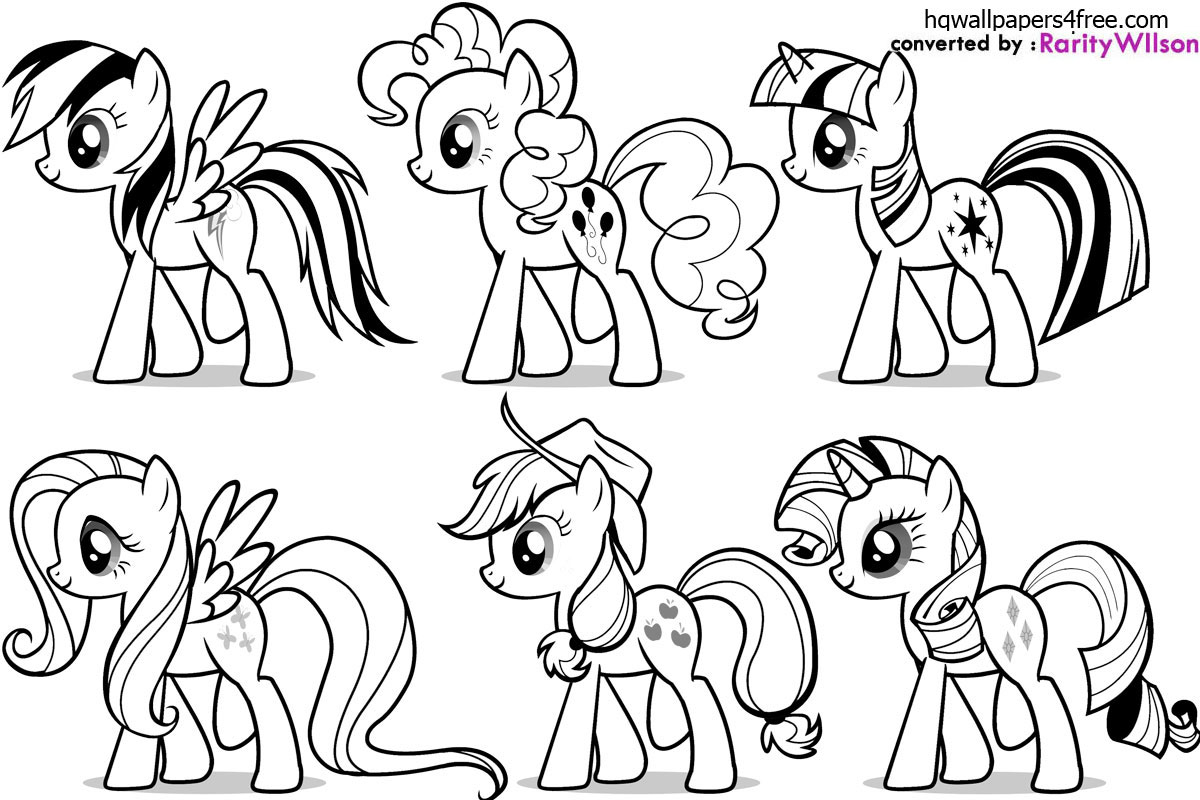 Mane 6 Coloring Pages