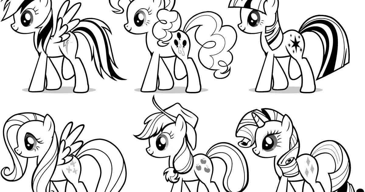 This is an image of Decisive Pony Pictures to Color