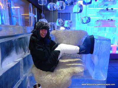 ice chair sculpture at Chillout Dubai