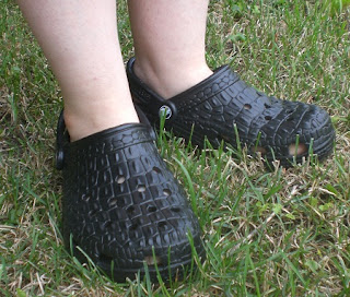 Black Crocskin Crocs, 10th Birthday Edition