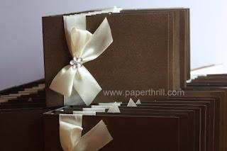 Handmade flower satin wedding invitation cards