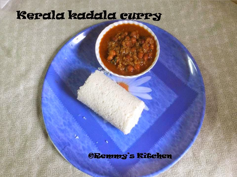 Kerala kadala curry / Black chickpeas curry