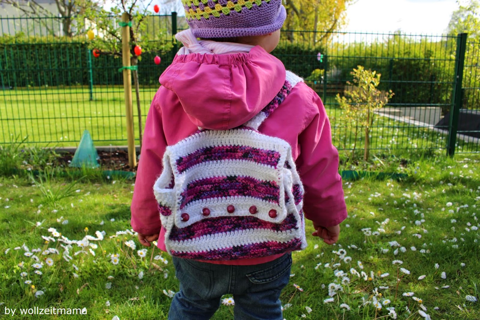 Wollzeitmama: Kinderrucksack im Retrodesign