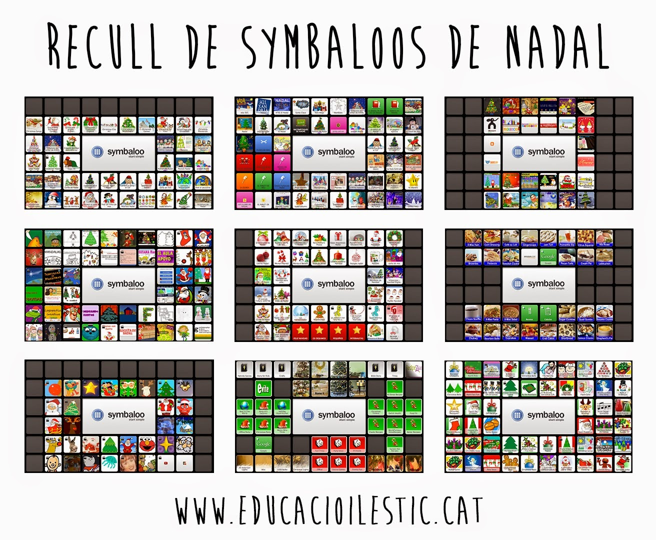 http://www.educacioilestic.cat/2013/11/recull-de-symbaloos-de-nadal.html