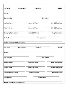 http://www.teacherspayteachers.com/Product/Student-Information-Sheet-1348625