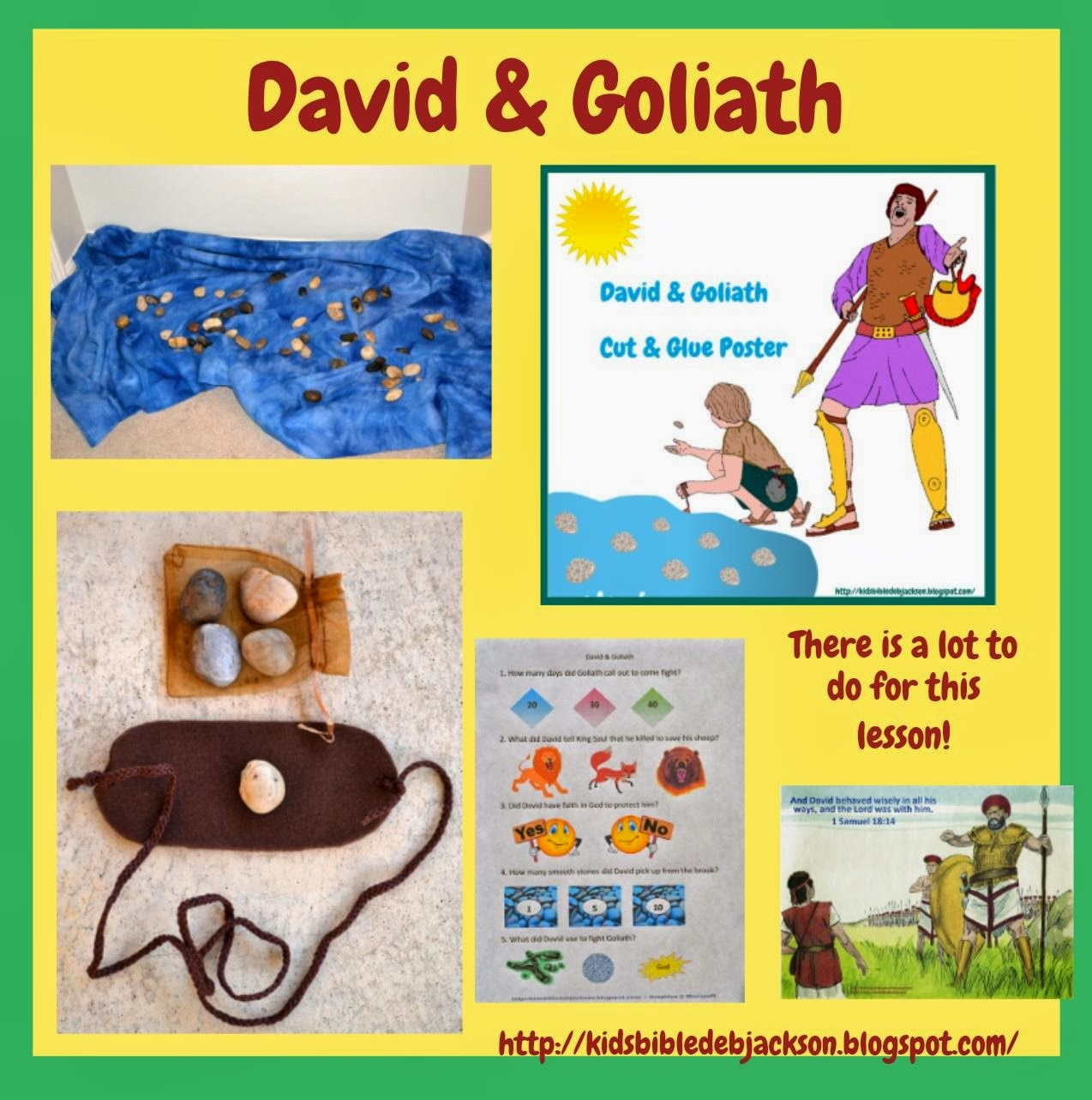 Bible fun for kids old testament people lesson list links for David and goliath craft