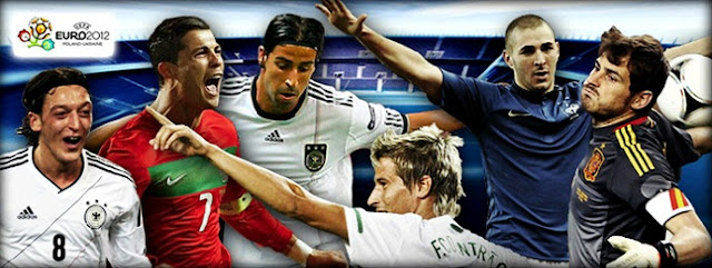 Real Madrid players at Euro 2012
