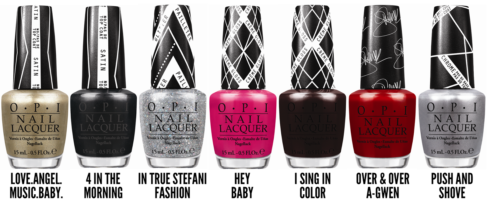 Gwen Stefani for OPI Nail Polish Collection 2013 recommendations