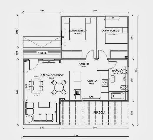 Planos de casas octubre 2013 for Planos de cocina americana