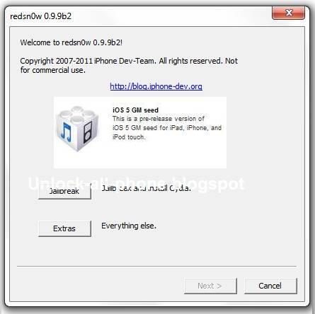 Jailbreak iOS 5 GM With RedSn0w 0.9.9b2