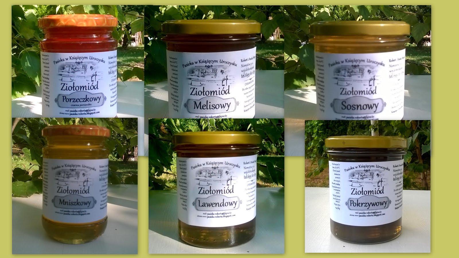 Miód z własnej pasieki, ziołomiody, produkty pszczele