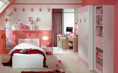 habitación muebles rosa niña
