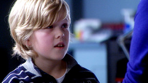 Picture of child actor Ioan Lloyd appearing as Sam Turner in Casualty TV programme