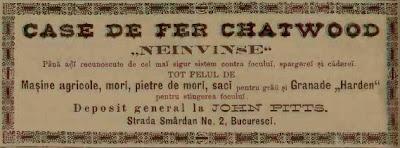 Reclama din 1888 la seifuri