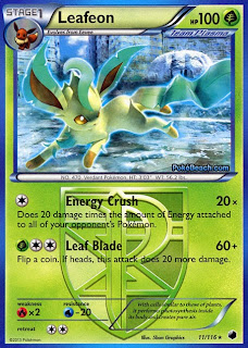 Leafeon Plasma Freeze Pokemon Card Review