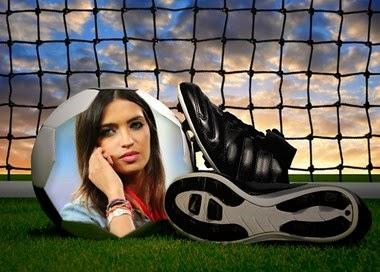 fotomontaje botines de futbol