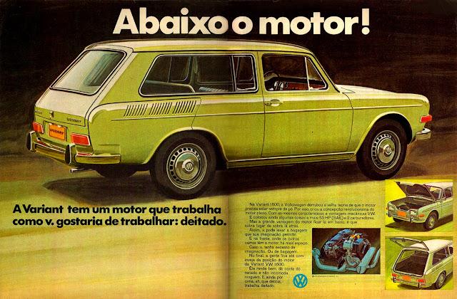 propaganda Variant 1600 - Volkswagen - 1970; história anos 70; propaganda década de 70; Brazilian advertising cars in the 70s; reclame anos 70; Oswaldo Hernandez;
